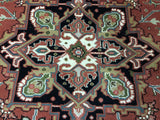Indian Rug Hand Knotted Oriental Rug Heriz Large Rug 7'10X11'1