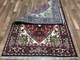 Indian Rug Hand Knotted Oriental Rug Heriz Small Rug 4'X6'