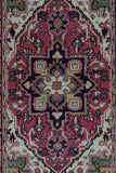 Indian Rug Hand Knotted Oriental Rug Heriz Small Rug 4'X6'4