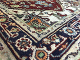 Indian Rug Hand Knotted Oriental Rug Indo Heriz Rug 3X5