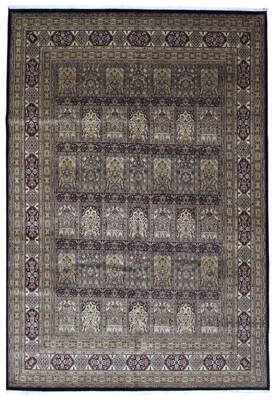 Indian Rug Hand Knotted Oriental Rug Large Bakhtiari Oriental Rug 9'9X13'9