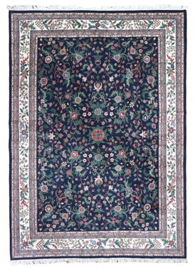 Indian Rug Hand Knotted Oriental Rug Large Fine Kashan Oriental Rug 9'8X13'3