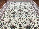 Indian Rug Hand Knotted Oriental Rug Large  Fine Kashan Oriental Rug 9'9X13'7
