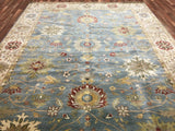 Indian Rug Hand Knotted Oriental Rug Large Fine Mahal Oriental Rug 9'1X11'8