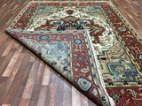 Indian Rug Hand Knotted Oriental Rug Large Fine Serapi Oriental Rug 8'9X11'1