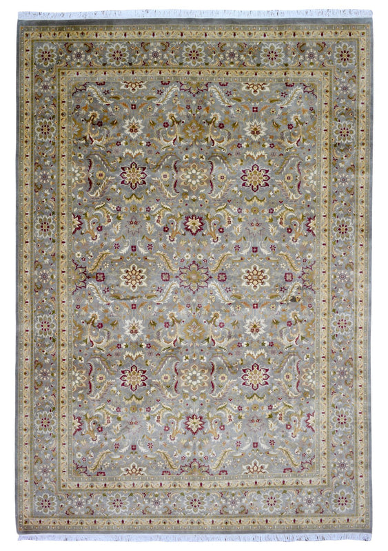 Indian Rug Hand Knotted Oriental Rug Large Fine Tabriz Oriental Rug 10'X14'2