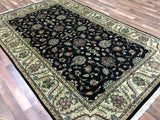 Indian Rug Hand Knotted Oriental Rug Large Fine Tabriz Oriental Rug 6'X9'