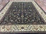Indian Rug Hand Knotted Oriental Rug Large Fine Tabriz Oriental Rug 8'10X12'5