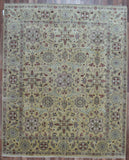 Indian Rug Hand Knotted Oriental Rug Large Fine Tabriz Oriental Rug 8'X9'8