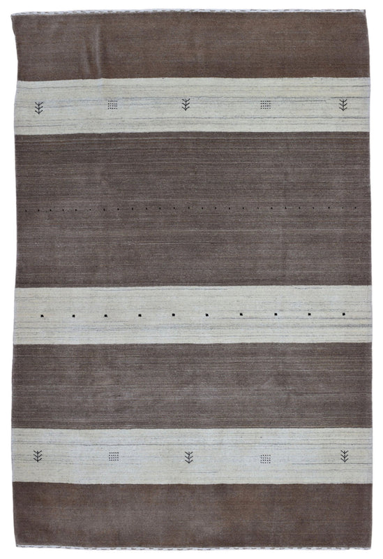 Indian Rug Hand Knotted Oriental Rug Large Gabbeh Rug 6'8X9'10