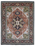 Indian Rug Hand Knotted Oriental Rug Large Heriz Oriental Rug 8'4X10'11