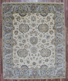 Indian Rug Hand Knotted Oriental Rug Large Light-Rug Chobi Peshawar 8X9'8