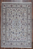 Indian Rug Hand Knotted Oriental Rug Large Oriental Kashan Rug 6'X8'9