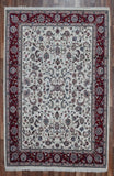 Indian Rug Hand Knotted Oriental Rug Large Oriental Kashan Rug 6'X9'