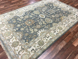 Indian Rug Hand Knotted Oriental Rug Large Oushak Oriental Rug 5'11X9'