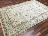 Indian Rug Hand Knotted Oriental Rug Large Oushak Oriental Rug 6X9'8'