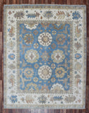 Indian Rug Hand Knotted Oriental Rug Large Oushak Oriental Rug 7'8X9'7