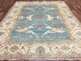 Indian Rug Hand Knotted Oriental Rug Large Oushak Oriental Rug 8'1X9'9