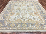 Indian Rug Hand Knotted Oriental Rug Large Oushak Oriental Rug 8'3X9'10