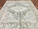 Indian Rug Hand Knotted Oriental Rug Large Oushak Oriental Rug 8'3X9'9