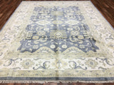 Indian Rug Hand Knotted Oriental Rug Large Oushak Oriental Rug 8'X9'9