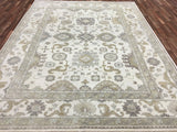 Indian Rug Hand Knotted Oriental Rug Large Oushak Oriental Rug 9'1X11'10