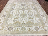 Indian Rug Hand Knotted Oriental Rug Large Oushak Oriental Rug 9'2X11'10