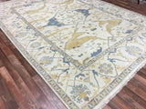 Indian Rug Hand Knotted Oriental Rug Large Oushak Oriental Rug 9'2X11'9