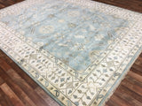 Indian Rug Hand Knotted Oriental Rug Large Oushak Oriental Rug 9'3X12'