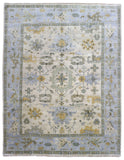 Indian Rug Hand Knotted Oriental Rug Large Oushak Oriental Rug 9'5X12'