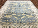 Indian Rug Hand Knotted Oriental Rug Large Oushak Oriental Rug 9'X11'9