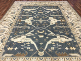 Indian Rug Hand Knotted Oriental Rug Large Oushak Oriental Rug 9X11'8