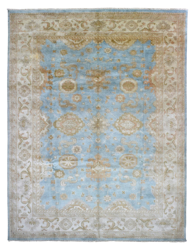 Indian Rug Hand Knotted Oriental Rug Large Oushak Rug 9'1X11'7