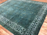 Indian Rug Hand Knotted Oriental Rug Large Overdye Oriental Rug 9'3X11'8