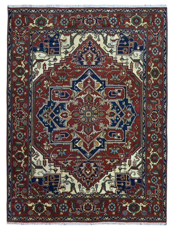 Indian Rug Hand Knotted Oriental Rug Large Serapi Oriental Rug 9X11'10