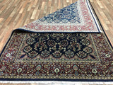 Indian Rug Hand Knotted Oriental Rug Large Tabriz Oriental Rug 6'1X8'10