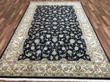 Indian Rug Hand Knotted Oriental Rug Large Tabriz Oriental Rug 6'X9'5