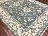 Indian Rug Hand Knotted Oriental Rug Large Turkish Knot Oushak Oriental Rug 8'1X10'2