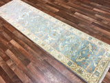 Indian Rug Hand Knotted Oriental Rug Long Oushak Oriental Runner Rug 2'6X9'8