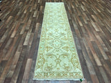 Indian Rug Hand Knotted Oriental Rug Long Oushak Oriental Runner Rug 2'8X11'8