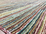 Indian Rug Hand Knotted Oriental Rug Modern Design Large Rug 7'10X10'