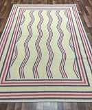 Indian Rug Hand Knotted Oriental Rug Oriental Kilim Rug 6X9'2