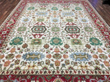 Indian Rug Hand Knotted Oriental Rug Oriental Mahal Large Rug 10'X13'9