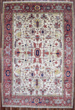 Indian Rug Hand Knotted Oriental Rug Oriental Mahal Large Rug 9'3X13'9