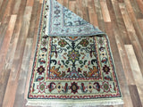 Indian Rug Hand Knotted Oriental Rug Oriental Mahal Small Rug 3'X5'