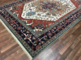 Indian Rug Hand Knotted Oriental Rug Oriental Serapi Large Rug 9'10X14'