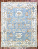 Indian Rug Hand Knotted Oriental Rug Oushak Large Oriental Rug 8X10