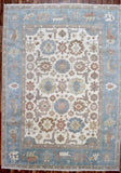 Indian Rug Hand Knotted Oriental Rug Oushak Large Oriental Rug 9'9X13'6