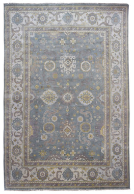 Indian Rug Hand Knotted Oriental Rug Oushak Oriental Large Area Rug 9'4X13'9
