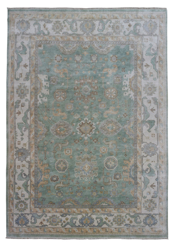 Indian Rug Hand Knotted Oriental Rug Oushak Oriental Rug 8'11X12'